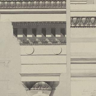 아테네, 에렉테움, 여인상 기둥의 특별석, 수평부와 토대