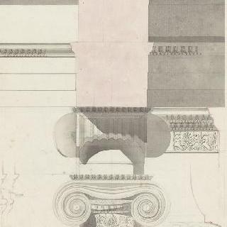 아테네, 에렉테움, 남쪽 주랑, 토대, 기둥머리, 수평부의 절단면