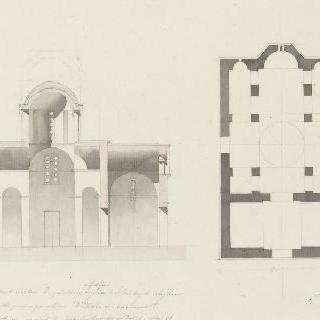 아테네, 고대 대성당, 도면, 절단면