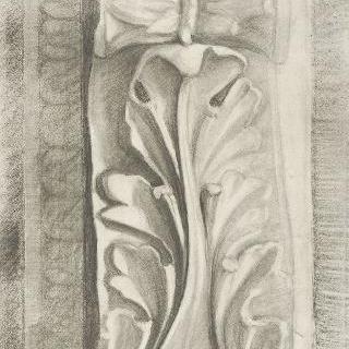 종려잎 장식의 소용돌이꼴 장식 형태의 콘솔 테이블