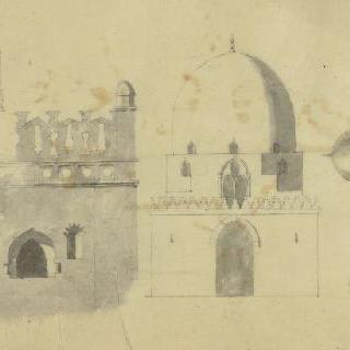 카이로, 칼리프들의 무덤, 입면도와 돔과 트인 공간의 세부 묘사