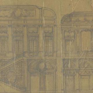 왕궁의 계단, 두 개의 절단면