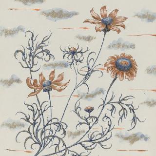 꽃 소재 장식을 위한 모델