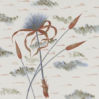 꽃 소재 장식을 위한 모델 : 파피루스