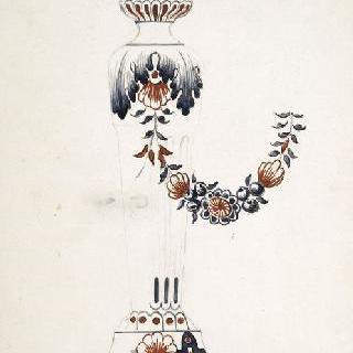 도자기로 된 촛대 모델 : 루앙 장식