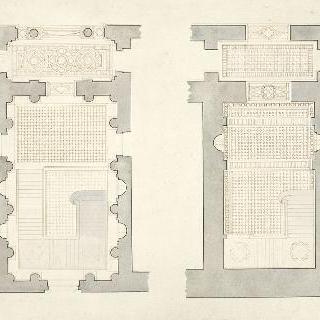 계단 계획안, 1층 도면과 2층의 도면