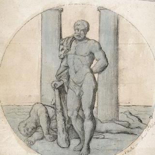 파리 운벨 호텔 : 그랑 살롱 : 헤라클레스의 12가지 고역 시리즈 : 안타이오스의 죽음