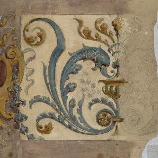 파리 운벨 호텔 : 벽패널의 아라베스크 장식