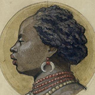 파리 할인은행 : 정면의 상부 프리즈 : 아프리카