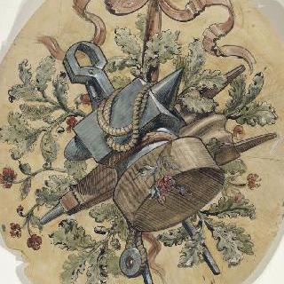사부아 지방의 엑스레뱅 카지노 : 모자이크 형태의 장식 계획안 : 단련