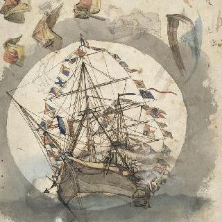 만함식을 한 배, 안장 크로키, 다양한 크로키