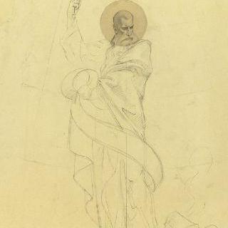 파리 성프랑수아자비에 성당 : 가로 회랑의 둥근 지붕 : 성 바오르의 준비 습작