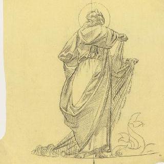 파리 성프랑수아자비에 성당 : 가로 회랑의 둥근 지붕 : 성 탕드레의 준비 습작