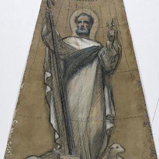 파리 성프랑수아자비에 성당 : 가로 회랑의 둥근 지붕 : 성 베드로 습작