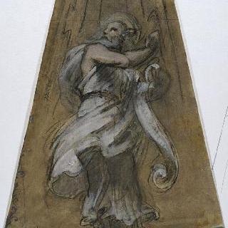 파리 성프랑수아자비에 성당 : 가로 회랑의 둥근 지붕 : 성 요한 준비 습작