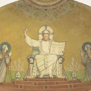 자선단체 부인회 예배당 : 중앙 후진의 둥근 지붕 : 영위의 그리스도