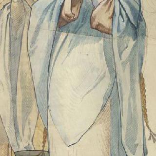 마들렌 성당 : 합창대의 모자이크 형태의 프리즈로 된 준비 밑그림 : 성녀 마리 살로메