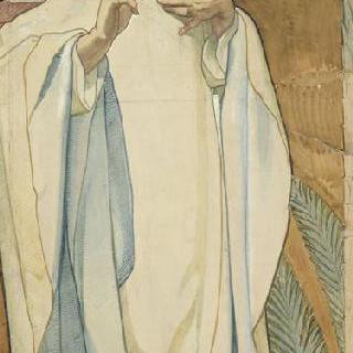마들렌 성당 : 합창대의 모자이크 형태의 프리즈로 된 준비 밑그림 : 성 막시맹