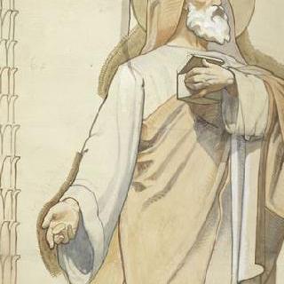 마들렌 성당 : 합창대의 모자이크 형태의 프리즈로 된 준비 밑그림 : 성 삭개오