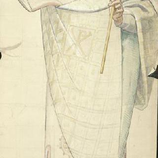 마들렌 성당 : 합창대의 모자이크 형태의 프리즈로 된 준비 밑그림 : 성 우르시누스