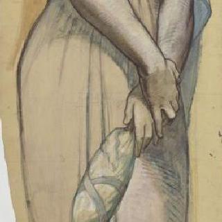 마들렌 성당 : 합창대의 모자이크 형태의 프리즈로 된 준비 밑그림 : 성녀 마르셀