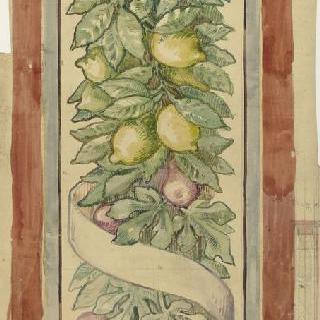 오드센지방, 클라마르의 페라리 양로원 : 예배당 : 과일 프리즈