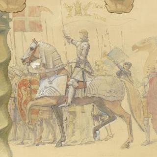 리옹 노트르담드푸르비에르 대성당 : 루이 13세의 기원의 모자이크 : 잔다르크