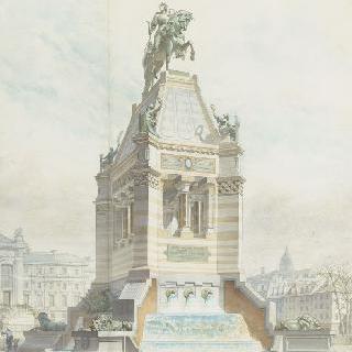 잔다르크 기념관 계획안 : 파리 재판소 앞의 일반 전경