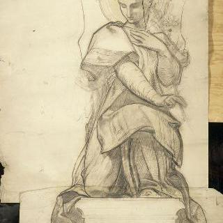 파리 판테온 : 생트쥬느비에브 예배당 : 고블랭 직물 양탄자 : 가브리엘 천사