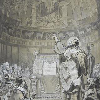 바티칸 무염수태의 교황문서 도서관 : 에페소스의 종교회의의 성 아나타시우스