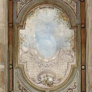 파리 페피니에르 거리의 호텔 : 천장화 계획안 이미지