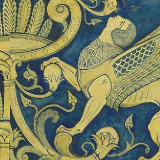 루브르 박물관, 앗시리아관 : 여자 스핑크스와 종려잎꼴 장식들