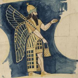 루브르 박물관, 앗시리아관 : 솔방울을 들고 서 있는 앗시리아인