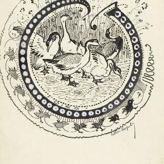 채색된 문자 J, 거위떼들의 모습