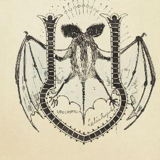 채색된 문자 U, 길쭉한 날개의 박쥐 모습