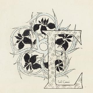 장식 철자 E, 붓꽃과 토끼풀 장식