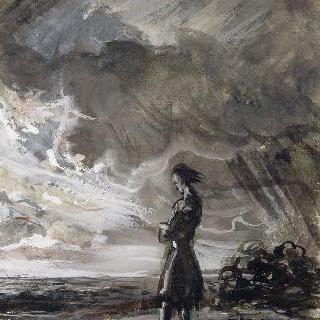 풍경 속 서 있는 남자
