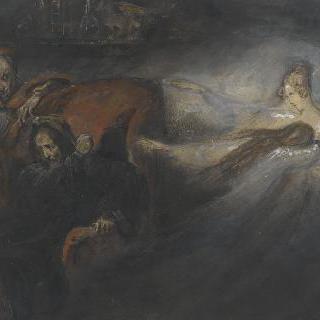 집무실의 파우스트, 메피스토와 유령의 여인들