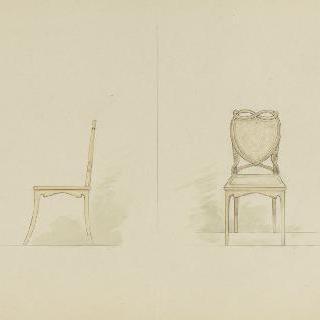 가구 모형 : 의자 정면과 측면