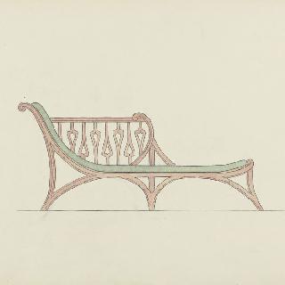 휴식용 긴 의자 모형