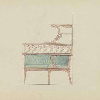 모퉁이의 긴 의자 모형