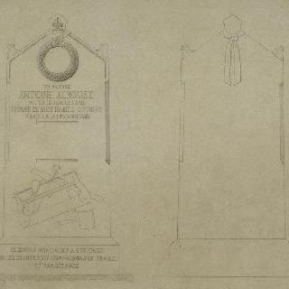 앙리 라브로스트 (1793-1852)에 의해 고안된 앙투안 알부즈의 무덤