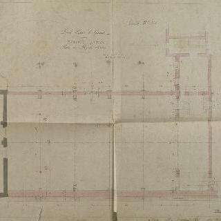 루이 르 그랑 고등학교, 건물 A (체육관), 1층 도면