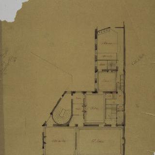 파리 카피생 대로 건물 안의 변형의 모사 : 도면