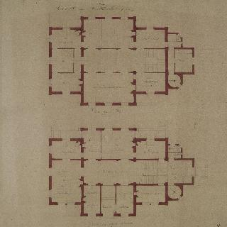 기상대 계획안 : 1층 도면과 2층 도면
