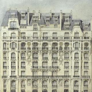 임대용 건물 (파리 6구 위스망 거리 1번지) : 정면. 입면도