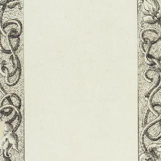 식물과 꽃의 엮음 무늬 장식이 있는 페이지 테두리