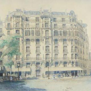 파리의 건물 : 멘 대로와 리포슈 거리의 모퉁이
