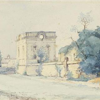 1917년 웅덩이에서 바라본 블레랑쿠르 성