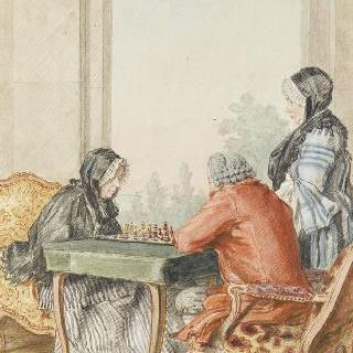 체스를 두고 있는 에스클라벨 부인과 리낭